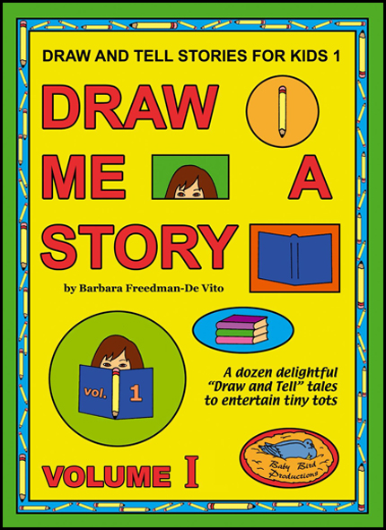 Draw and Tell Stories for Kids book front cover from the Draw Me a Story series