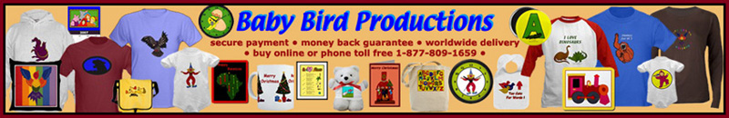 Kids T-shirts, children's clothing, baby clothes, family gifts and clothing from Baby Bird Productions