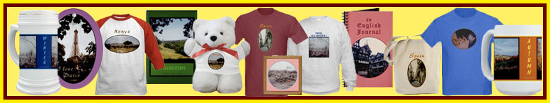 Travel souvenirs and nature scene gifts and clothing